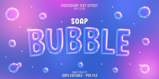 PSD font chữ bong bóng trền nền xanh tím