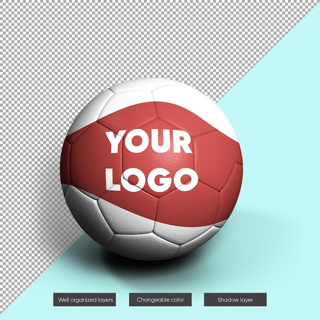 Soccer ball mock-up Premium Psd