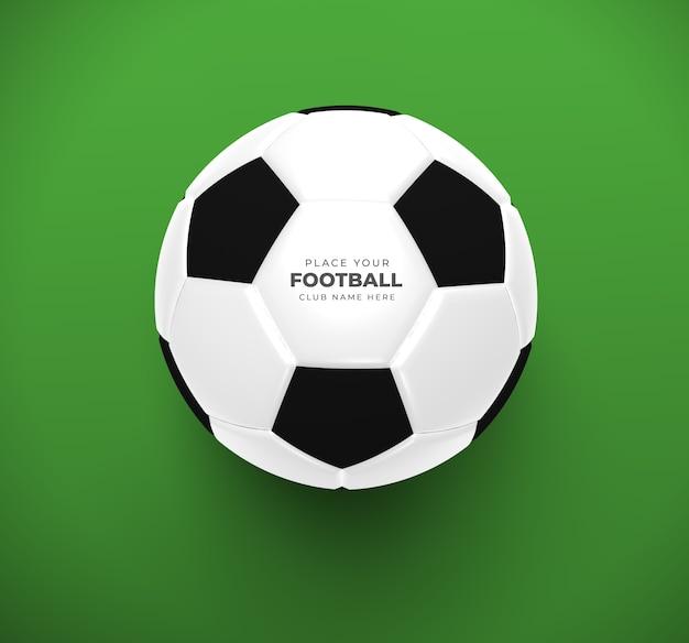 Soccer ball mockup closeup Premium Psd