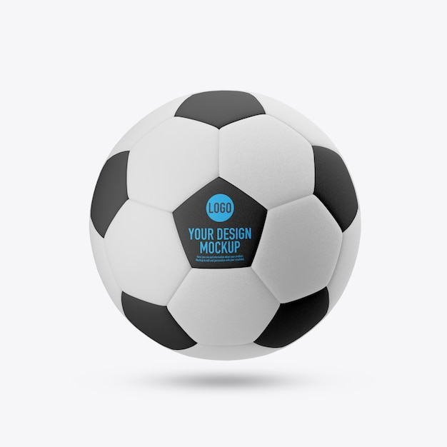 Soccer ball mockup isolated Premium Psd