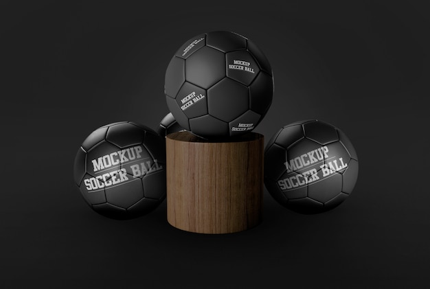 Soccer ball mockup Premium Psd