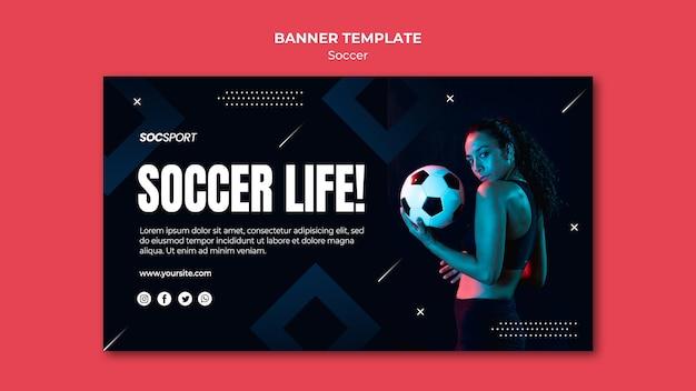 Soccer banner template Free Psd