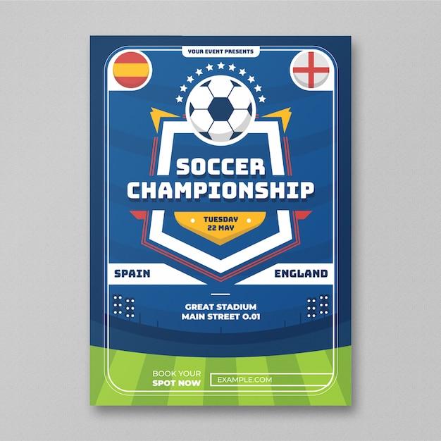 Soccer championship flyer Premium Psd