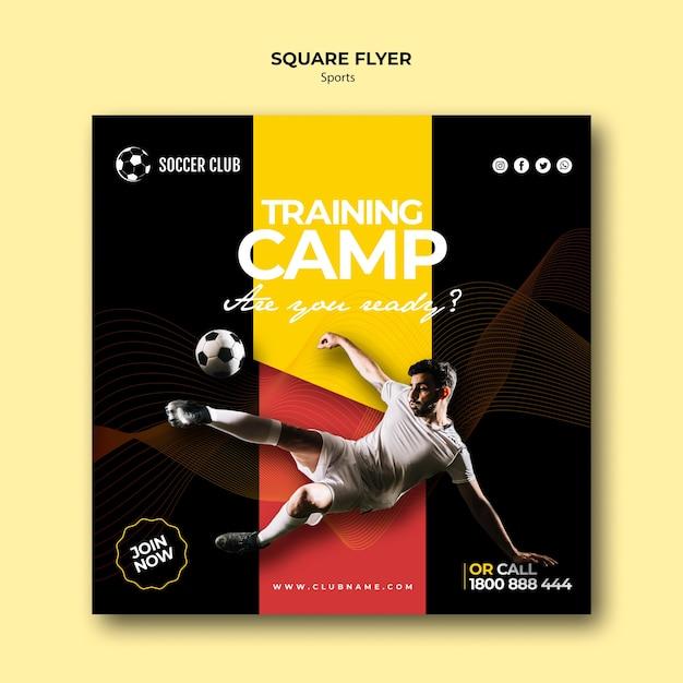 Soccer club training camp flyer Free Psd
