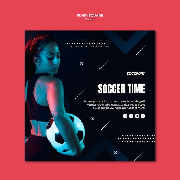 Soccer flyer template design Free Psd