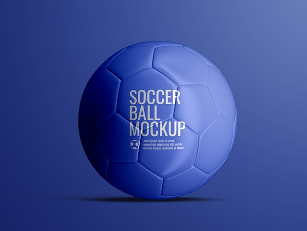 Soccer football ball mockup isolated Premium Psd