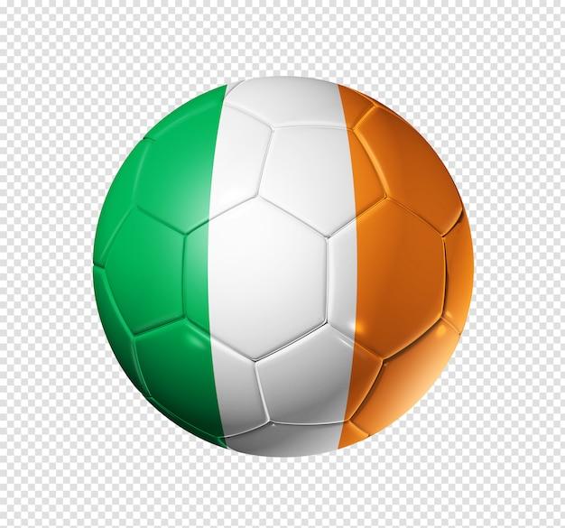 Soccer football ball with ireland flag Premium Psd