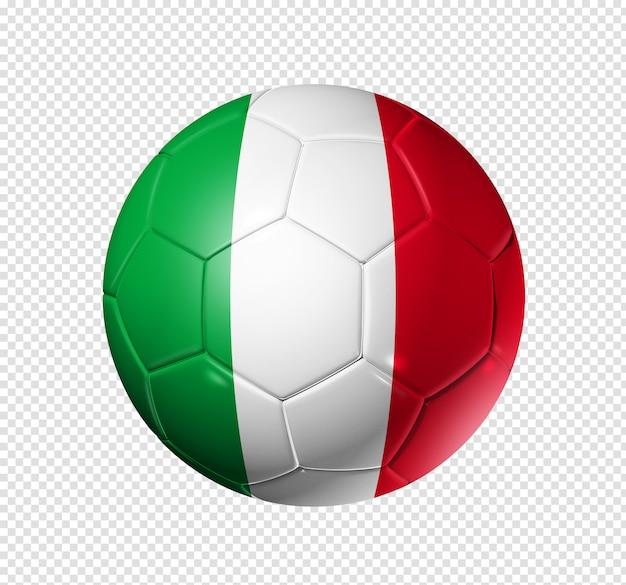 Soccer football ball with italy flag Premium Psd