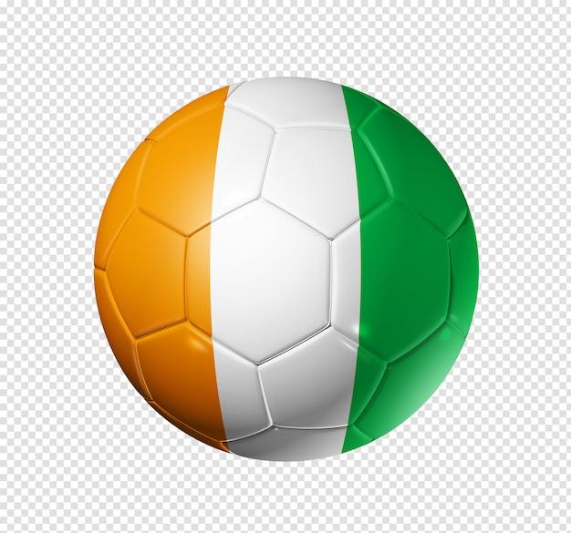 Soccer football ball with ivory coast flag Premium Psd