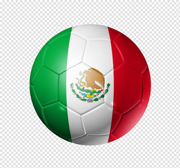 Soccer football ball with mexico flag Premium Psd