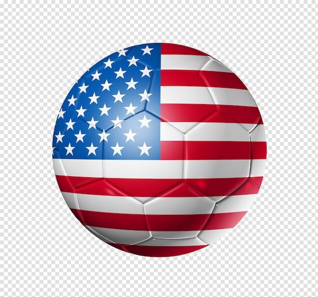 Soccer football ball with usa flag Premium Psd