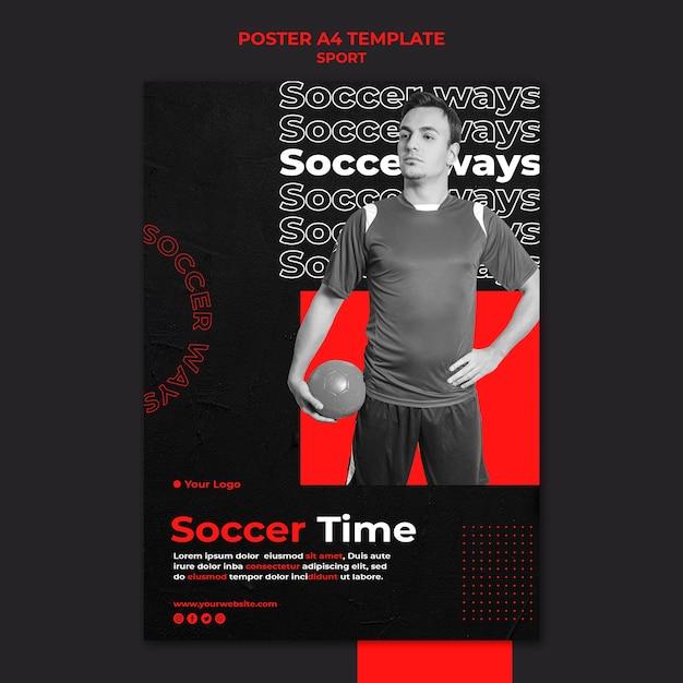 축구 시간 포스터 템플릿 무료 PSD 파일