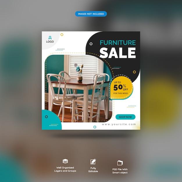 Social media banner for furniture template premium psd Premium Psd