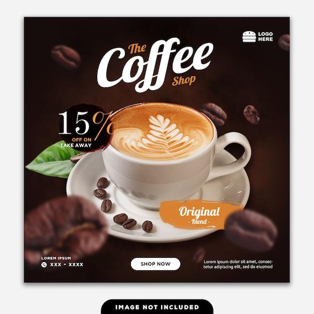 Социальные медиа баннер post food coffee Premium Psd