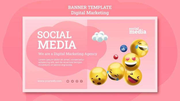 소셜 미디어 배너 서식 파일 무료 PSD 파일