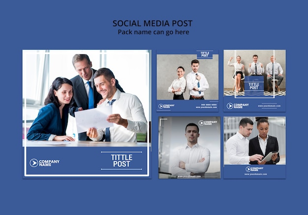 Social media concept for business template Free Psd