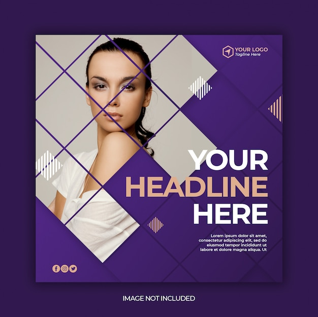 Social media instagram post banner template Premium Psd
