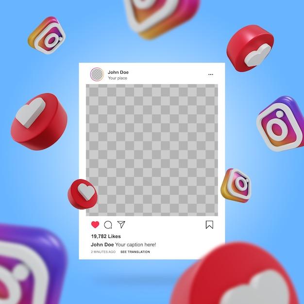 Social media instagram post mockup Premium Psd