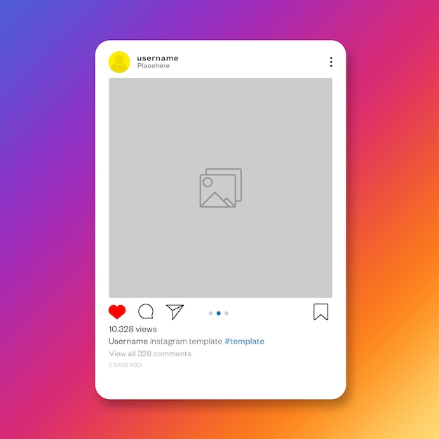 Social media instagram post template Free Psd