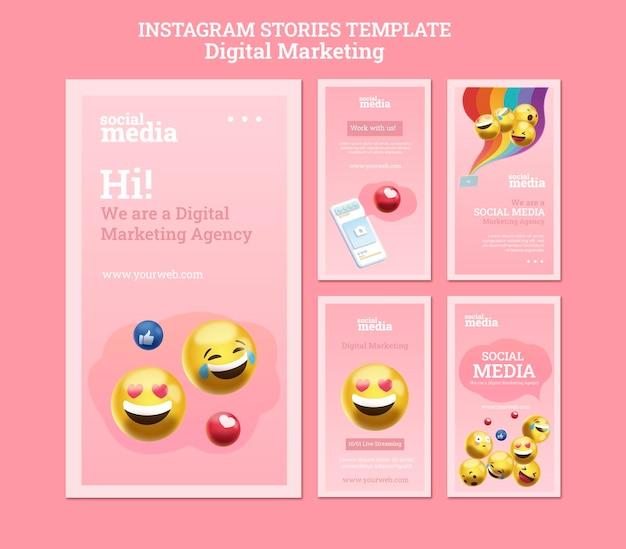 Истории instagram в социальных сетях Premium Psd