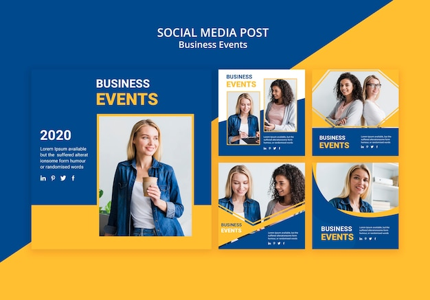 Social media post for business template Free Psd