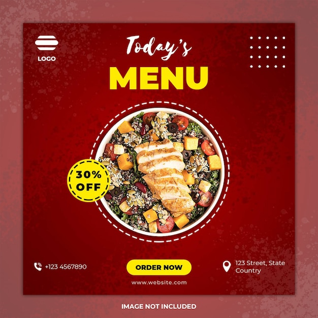 Social media post food banner templates Premium Psd