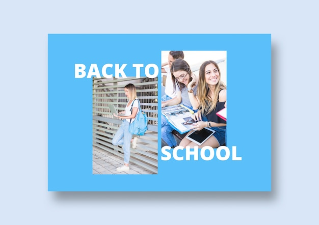 Social media post mockup with back to school concept Free Psd