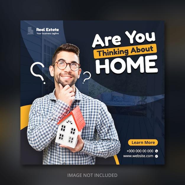 Social media post for real estate business Premium Psd