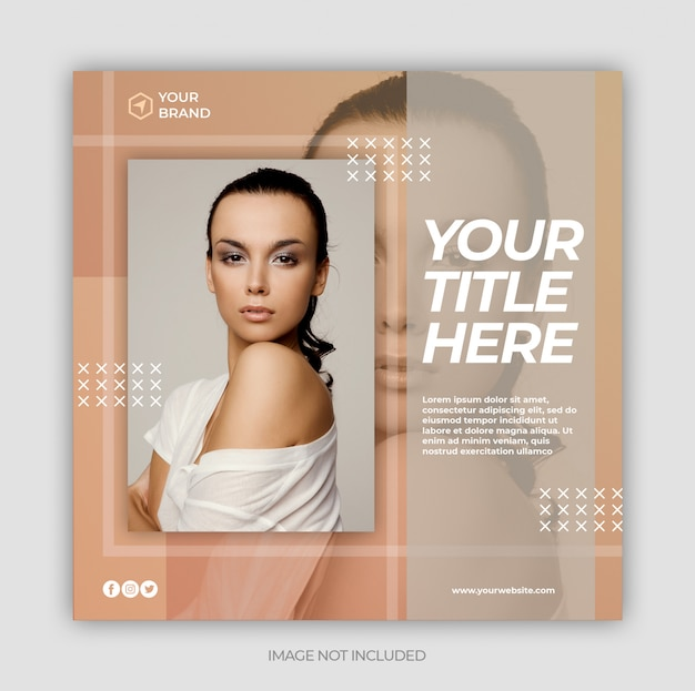 Social media post template or square web banner template Premium Psd