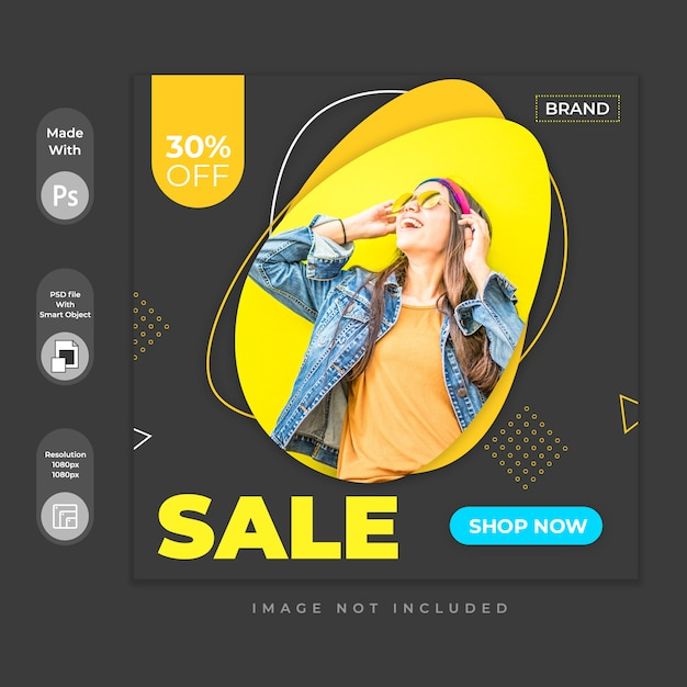Social media post template Premium Psd