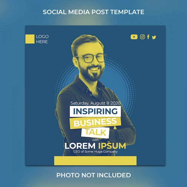 Social media post template Premium Psd