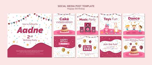 소셜 미디어 게시물 무료 PSD 파일