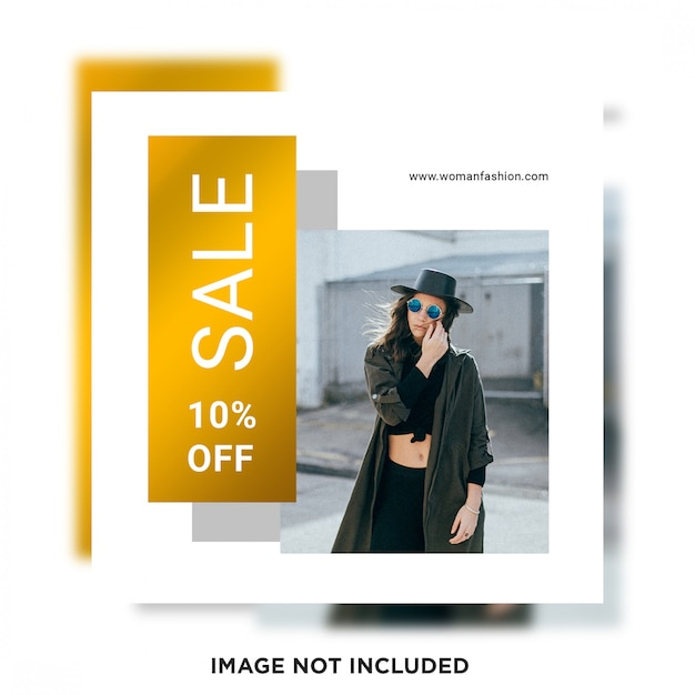 Social media sale post template Premium Psd