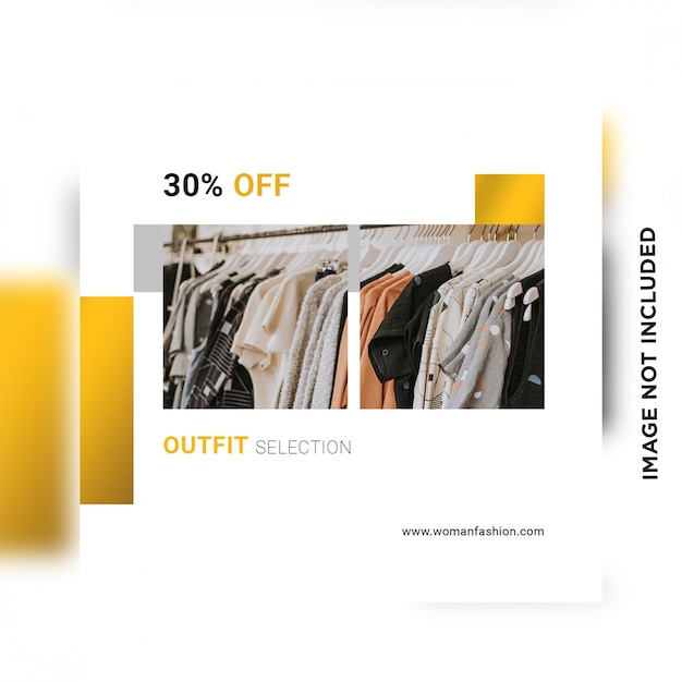 Social media sale post template Premium Psd
