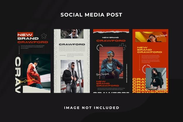 소셜 미디어 스토리 Instagram 템플릿 프리미엄 PSD 파일