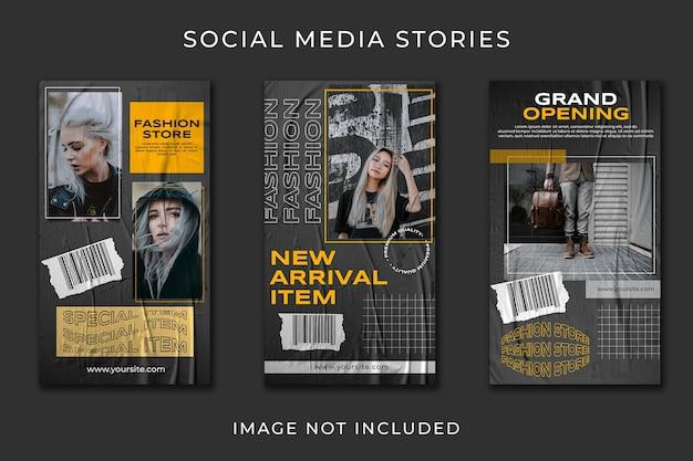 Social media story urban street fashion collection template Premium Psd