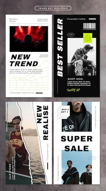 Social media story with street fashion Premium Psd