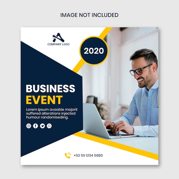 Social media template post story by business event Premium Psd