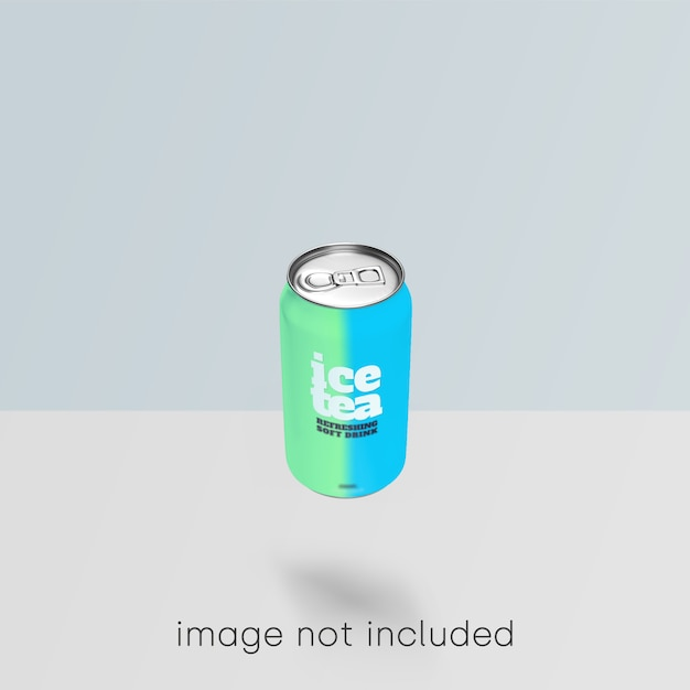 Сода может макет psd Бесплатные Psd
