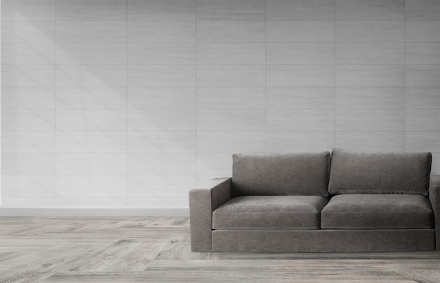 Sofa in a modern room Free Psd