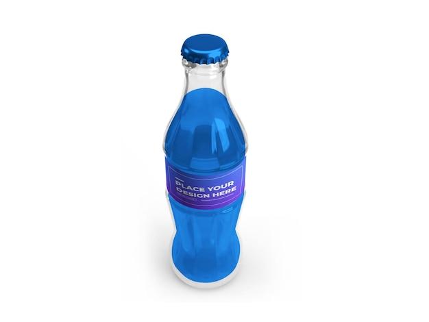 청량 음료 병 3d 모형 디자인 프리미엄 PSD 파일