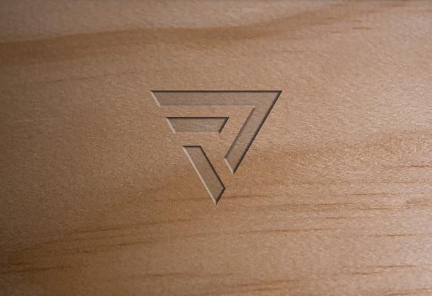 Мягкая текстура древесины с логотипом Premium Psd