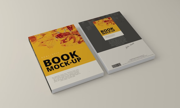 Softcover book mock up Premium Psd