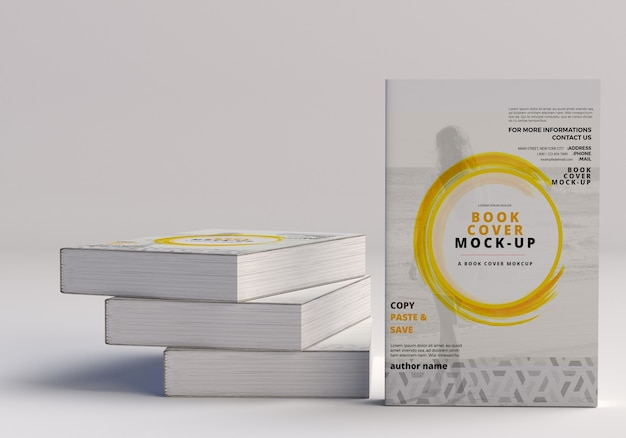 Softcover large book mockup Premium Psd