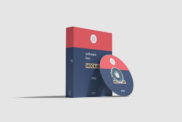 Программный блок и макет компакт-диска Premium Psd