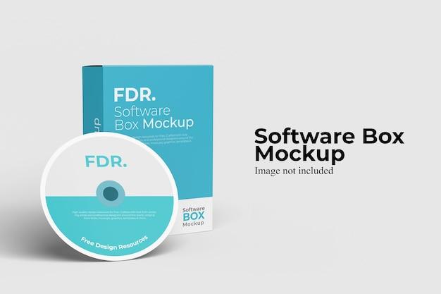 소프트웨어 상자 목업 무료 PSD 파일
