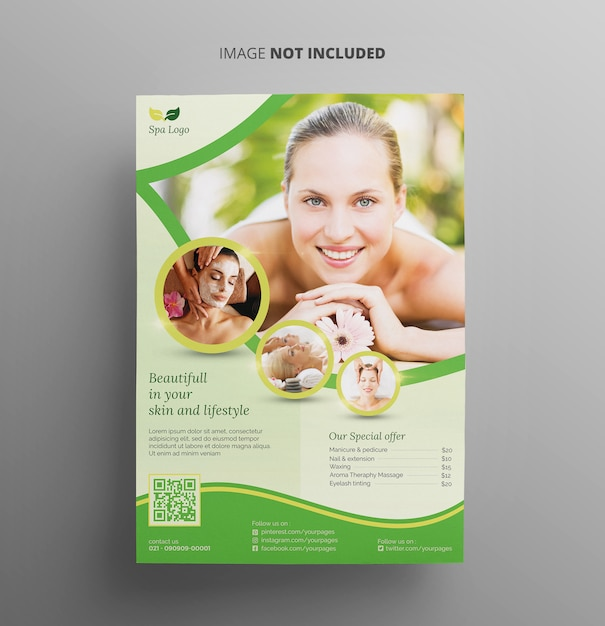 Spa and beauty flyer template Premium Psd