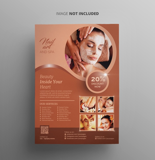 Spa and beauty flyer Premium Psd