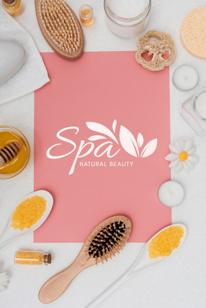 Spa care with natural products Free Psd