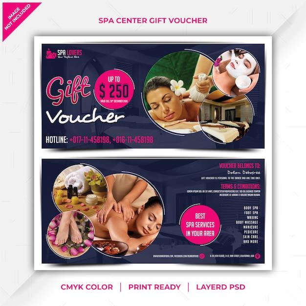 Spa center gift voucher Premium Psd